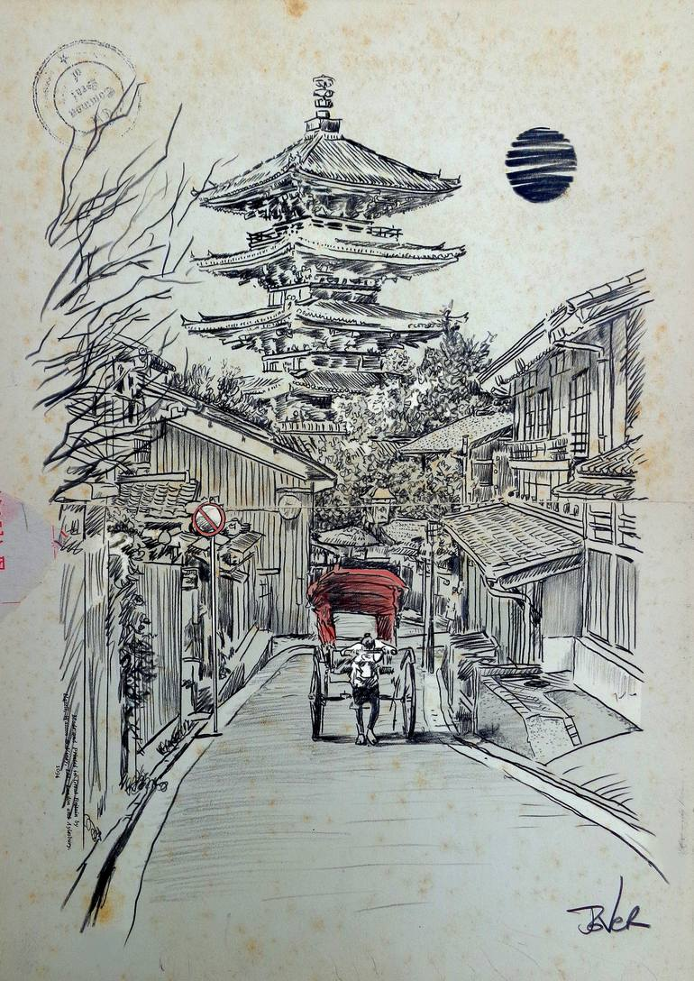770x1088 Saatchi Art Another Kyoto Moment Drawing By Loui Jover