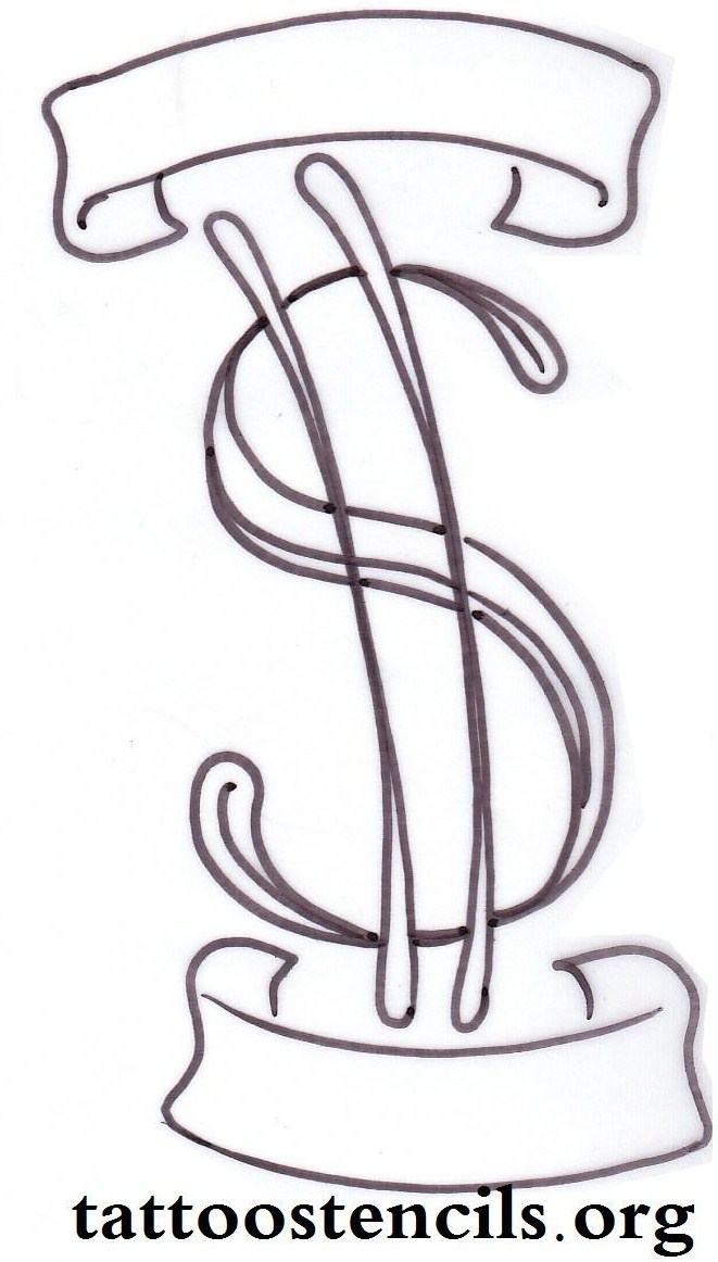 661x1162 Collection Of Money Sign Tattoo Drawing High Quality, Free