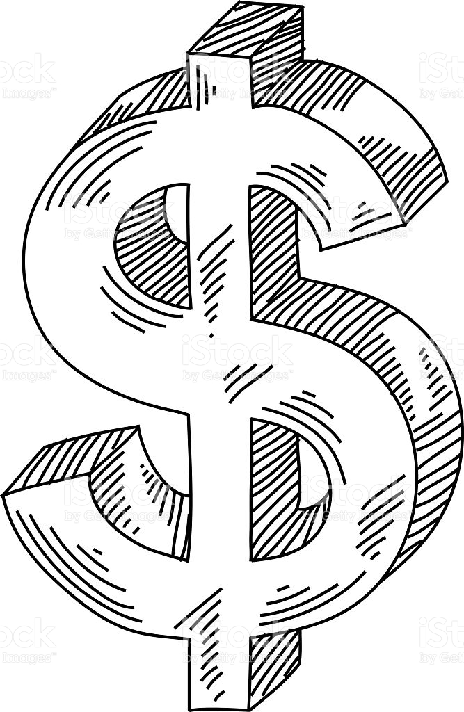 667x1024 Collection Of Money Symbol Drawing High Quality, Free