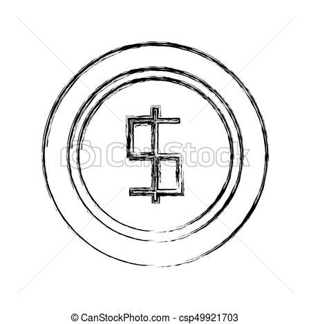 450x470 Coin Money Symbol Vector Illustration. Coin Money Symbol Vector