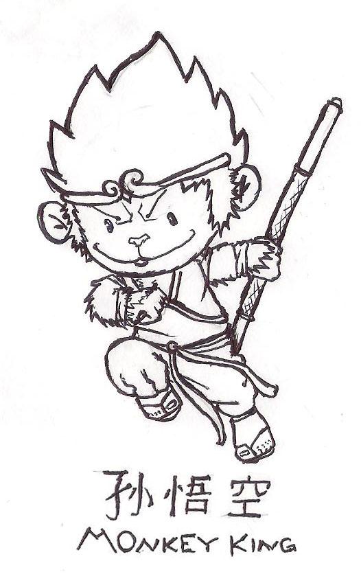 526x849 Monkey King By Jokemaster23