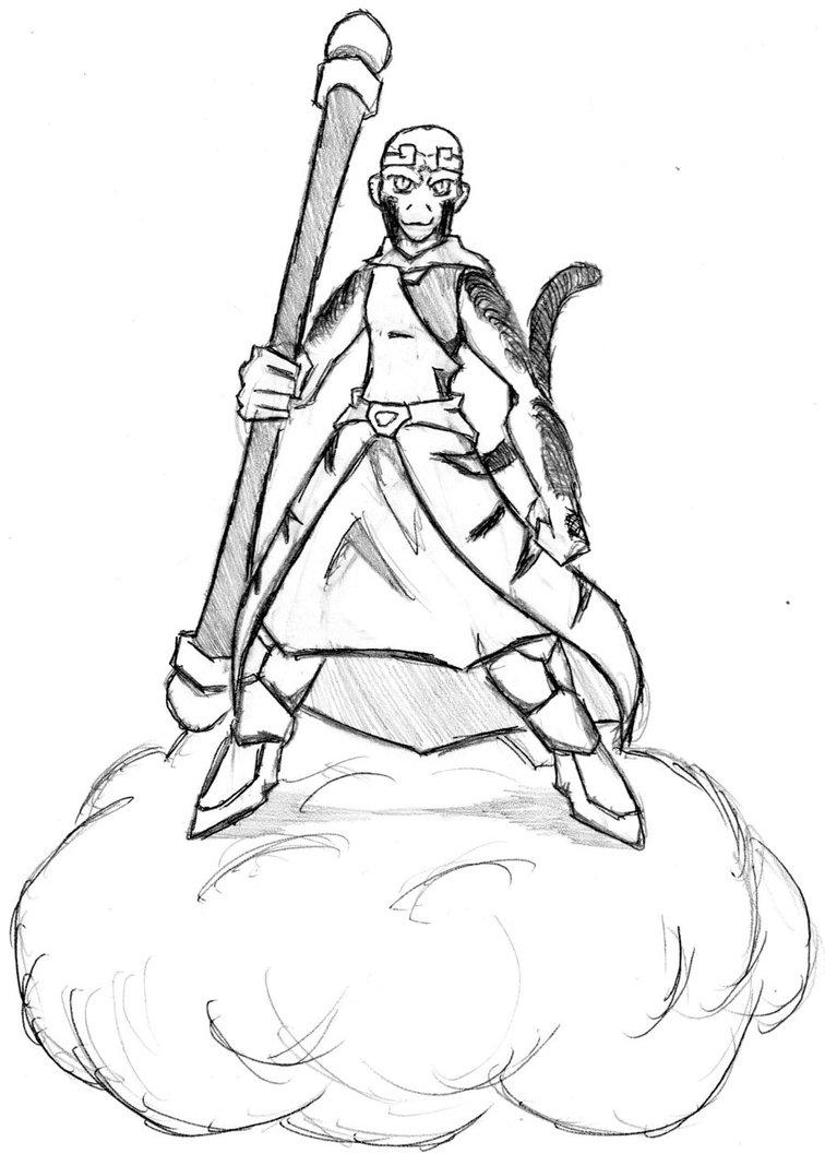 756x1057 Sun Wukong, The Monkey King By Xerit