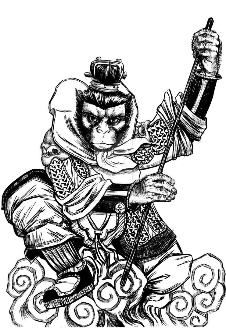 741x1077 The Monkey King By Oddmanoutpress