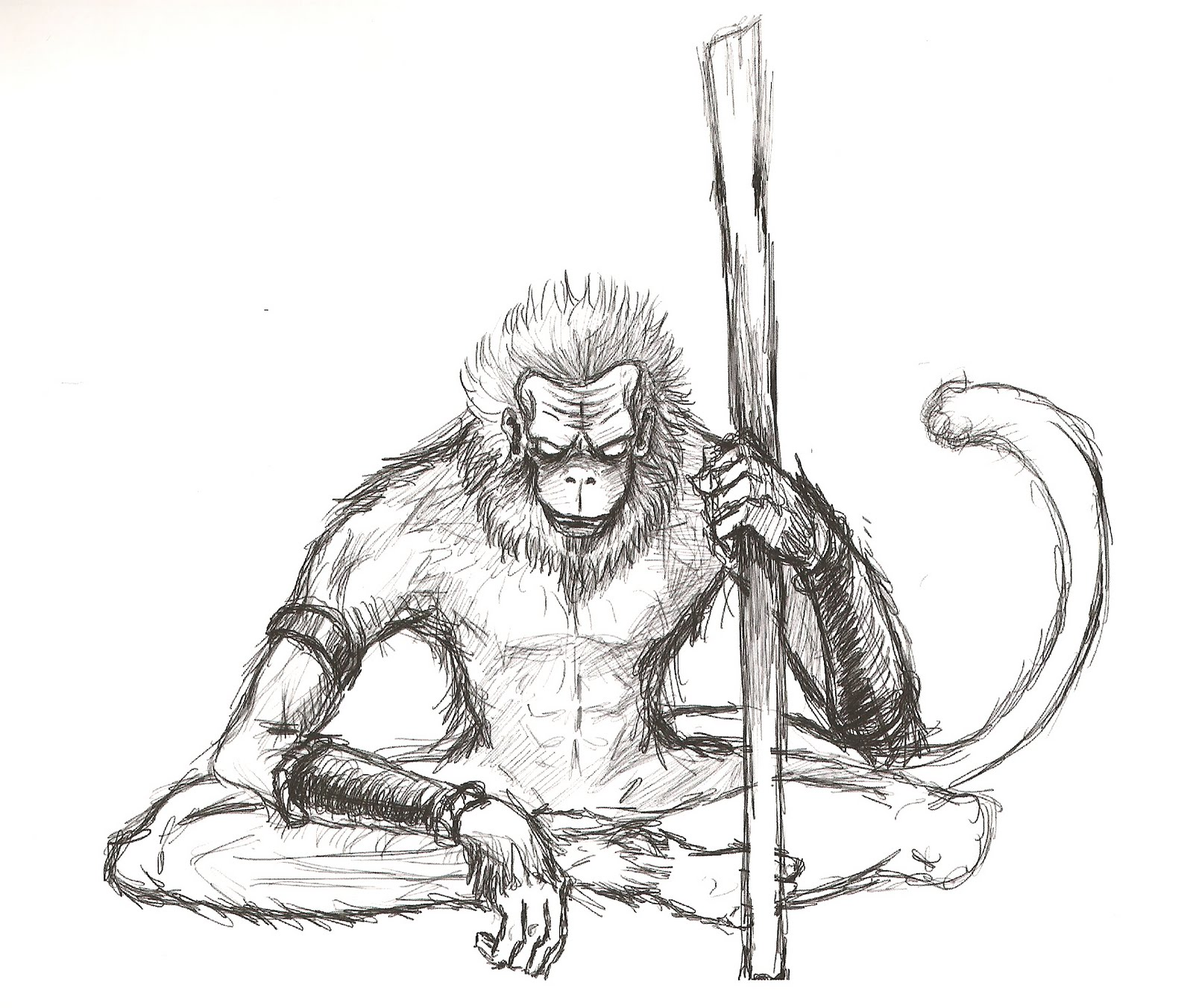 1600x1353 Collection Of The Monkey King Drawing High Quality, Free