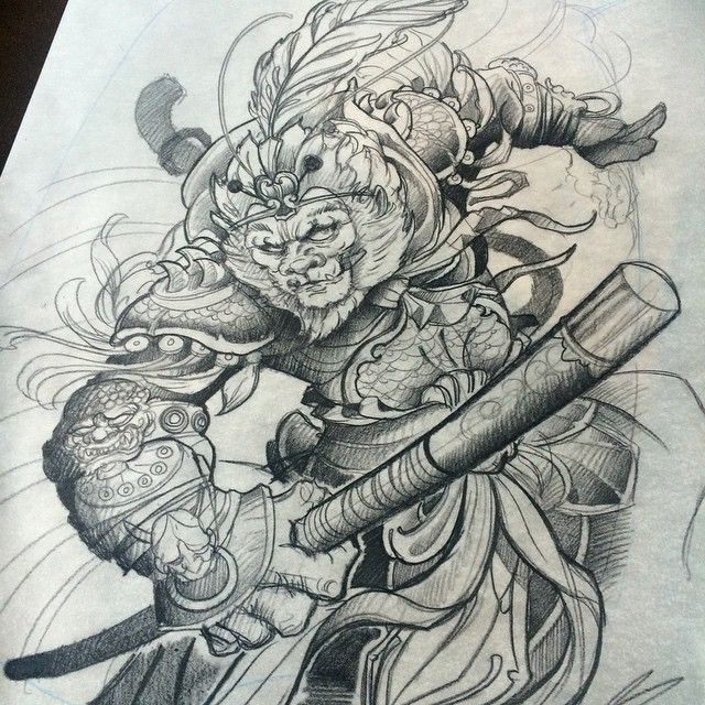 640x640 Check This Out On Tattoo Monkey King