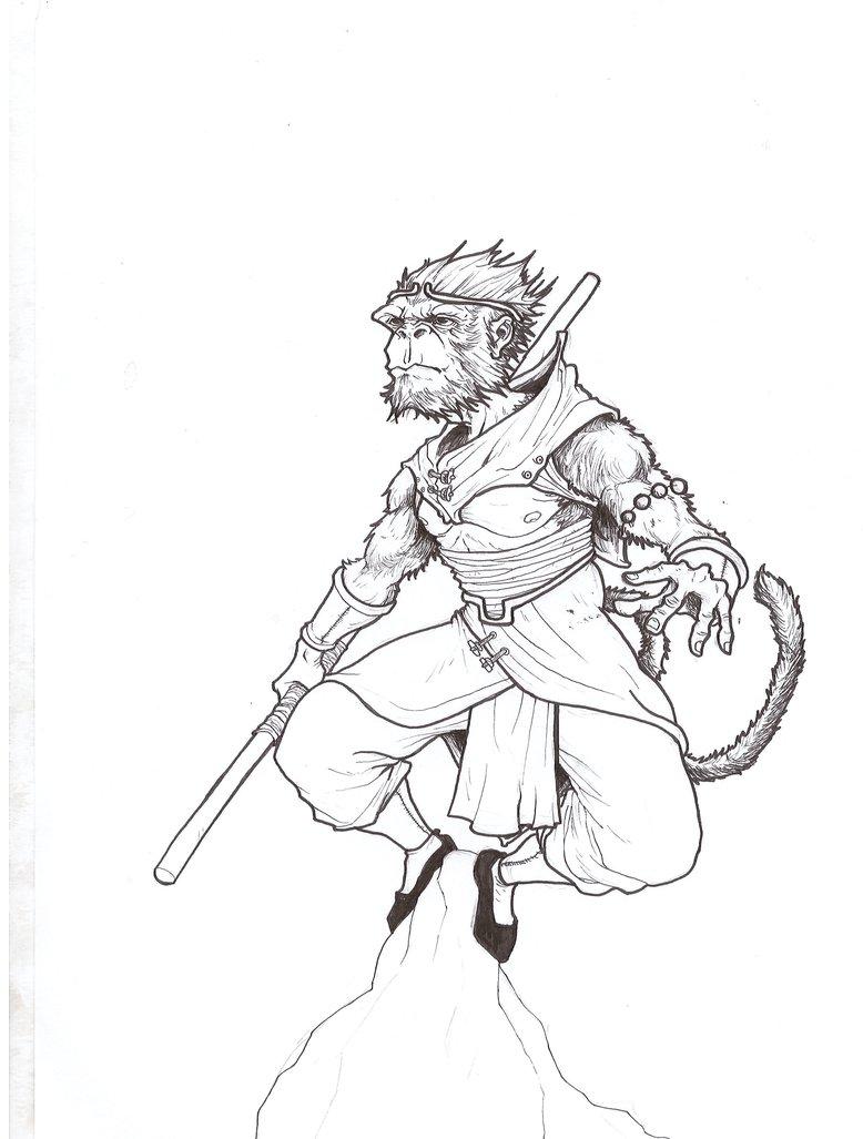 778x1027 Monkey King Lineart By Pawcioky