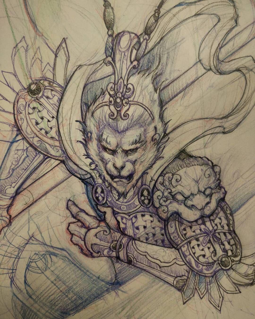 1080x1350 Monkey King Sketch.