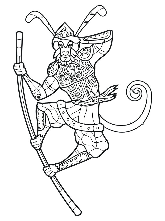 700x933 Monkey King Tattoo Design Art Of Karthik