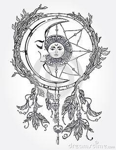 236x306 Sun And Moon Mandala Drawing Tumblr