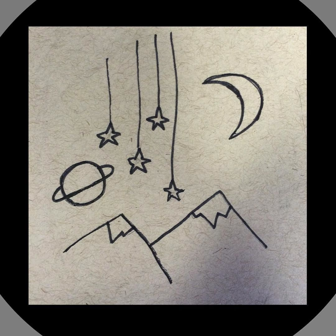 1080x1080 Collection Of Tumblr Moon Drawing High Quality, Free