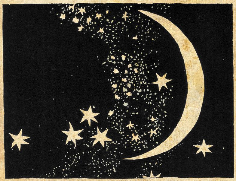 785x600 Moon And Stars Art Print Elegant Paper Cut Night Sky