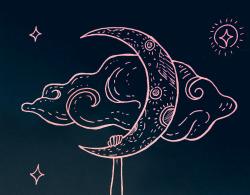 250x195 Drawing Illustration Art Design Moon Artwork Goodnight Doodle Wip