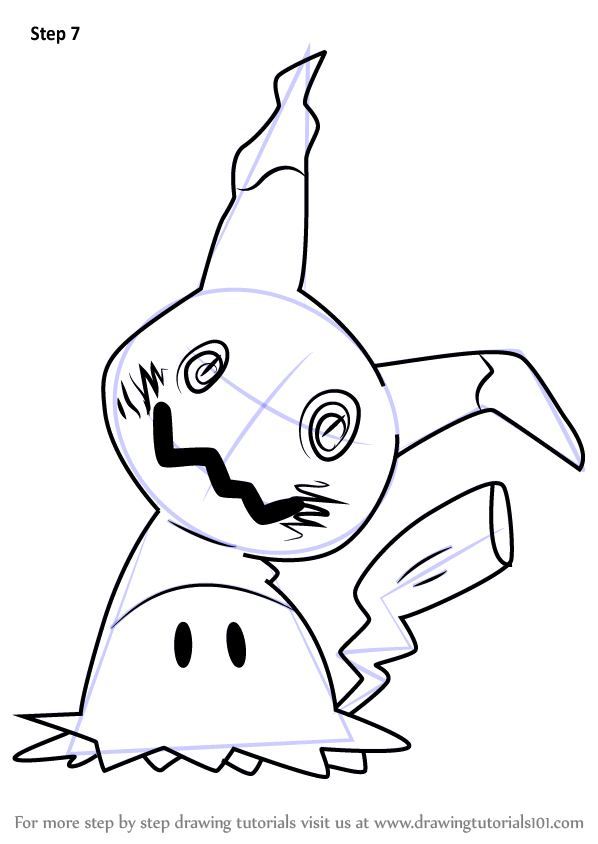 598x844 Learn How To Draw Mimikyu From Pokemon Sun And Moon Sun