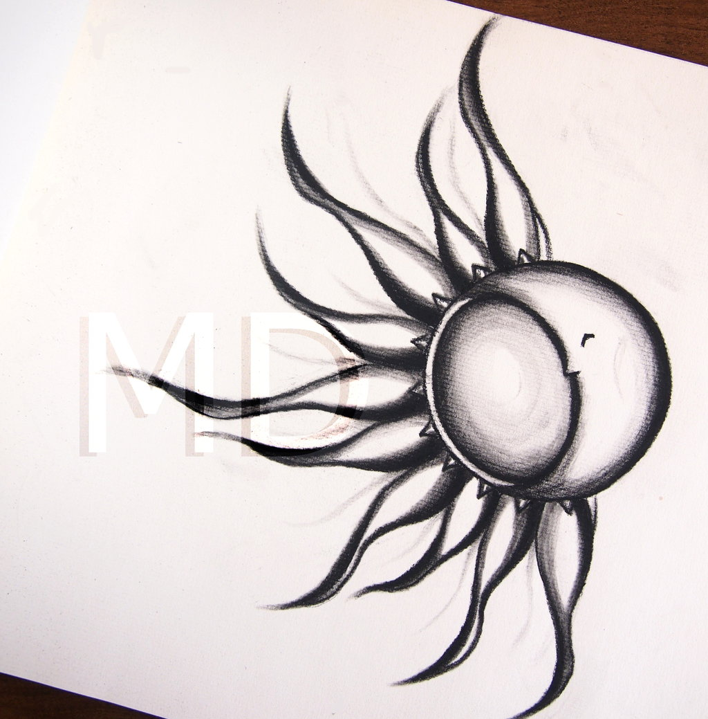 1024x1039 Collection Of Sun And Moon Drawing Easy High Quality, Free