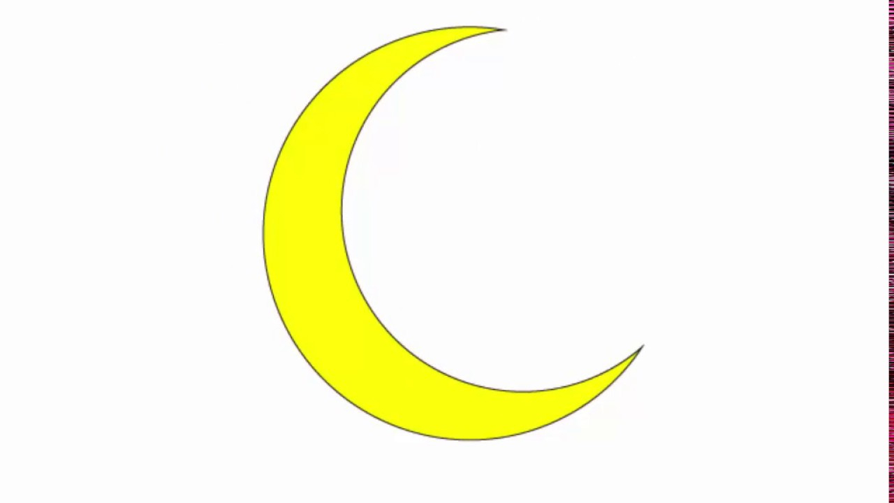 1280x720 Cresent Moon Drawing Crescent Moon