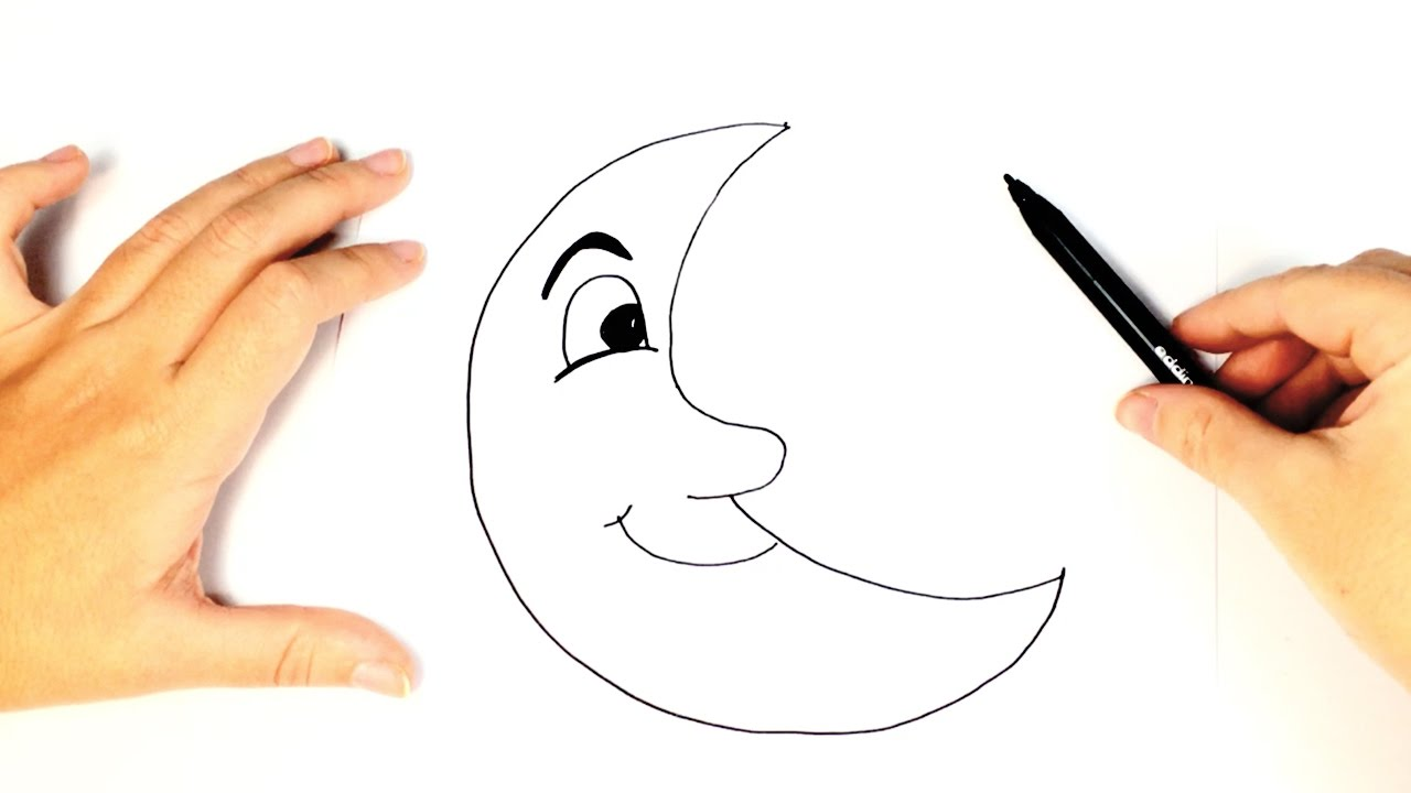 1280x720 How To Draw A The Moon For Easy And Step By Step