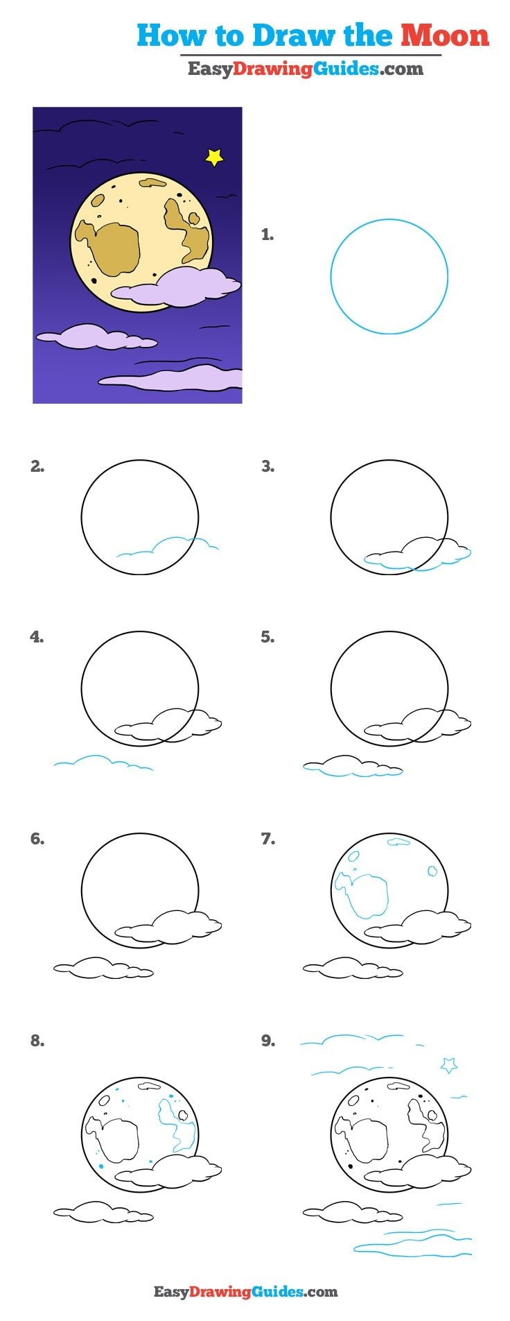 736x1904 How To Draw The Moon Really Easy Drawing Tutorial