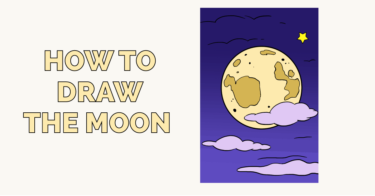 1200x628 How To Draw The Moon Really Easy Drawing Tutorial