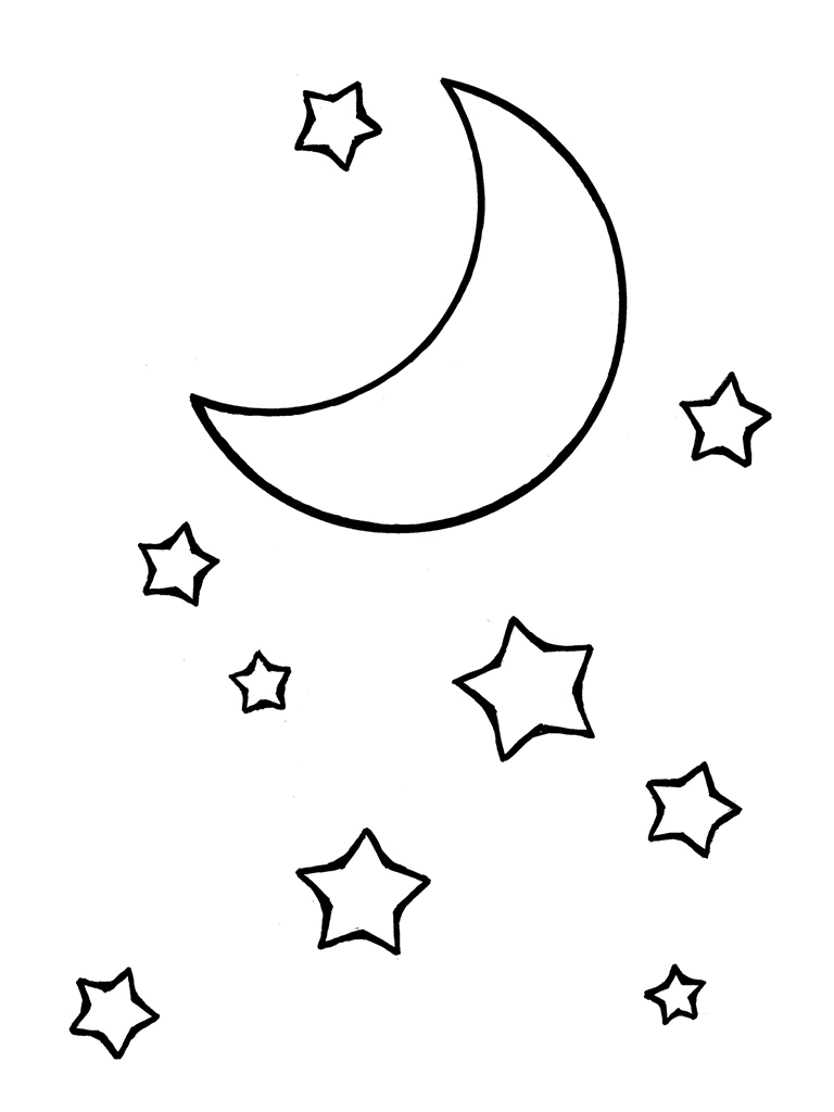 768x1024 Cresent Moon Drawing Cresent Moon Drawing Crescent Moon And Stars