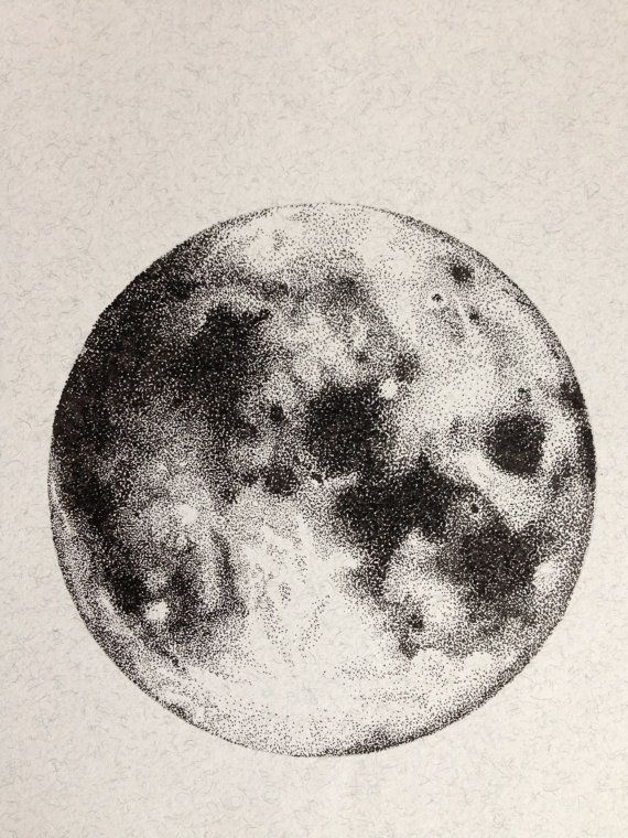 570x760 Collection Of Moon Pen Drawing High Quality, Free Cliparts
