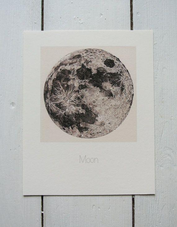 570x729 Full Moon Pen Ink Illustration Ink Illustrations