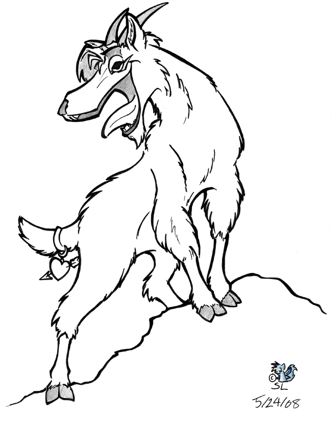 650x827 Mountain Goat By The Snowlion