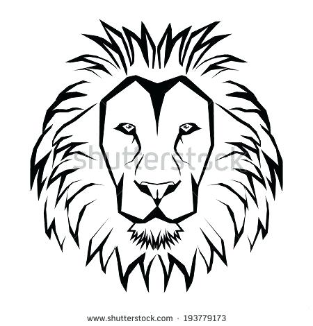 450x470 Of Lion Outline Drawing Lion Coloring Pages Printable Lion Face
