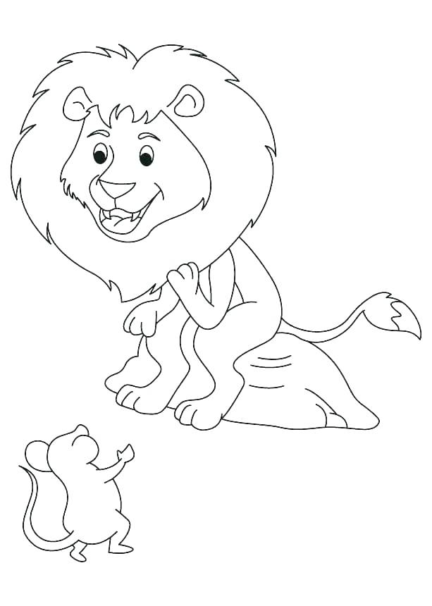 613x860 Coloring Pages Of Lions Lion Color Sheet Lion Smiling Face