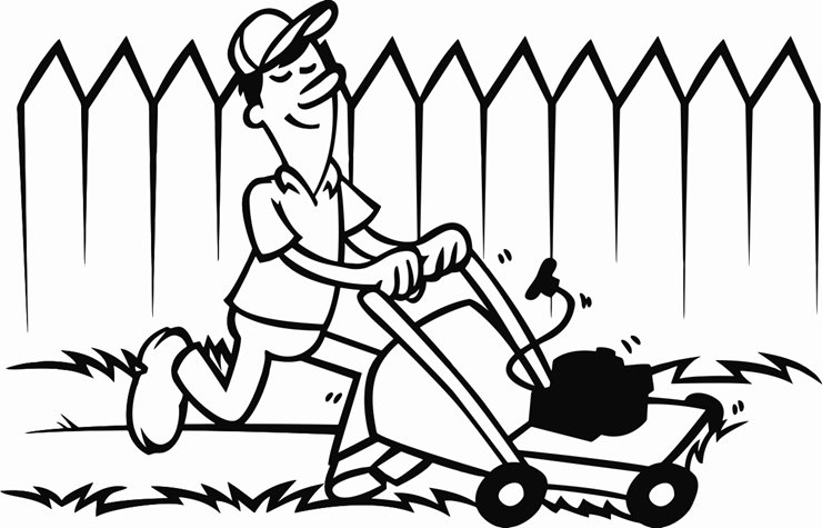 740x475 Lawn Mower Printable Image Illustration Sketch For Lawn Mower