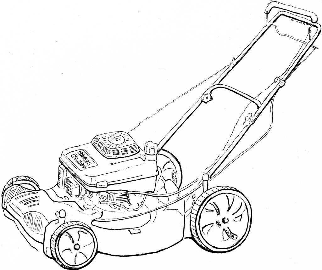 Mower Drawing At Free For Personal Use Download Honda Lawn Carburetor Linkage Diagram Picture 1024x858 Lawnmower Proposal Preliminary Paul Moncus
