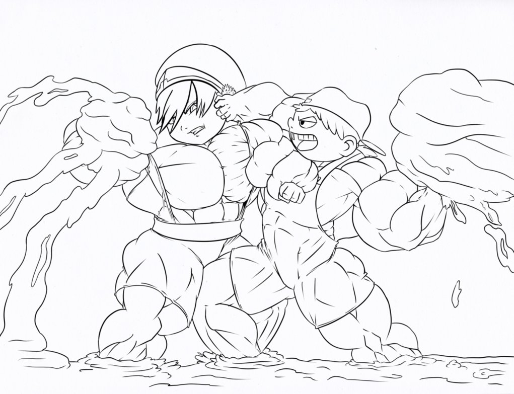 1021x783 Lana And Toph Mud Fight By Astaroth90
