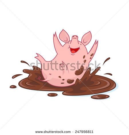 450x470 Collection Of Pig In Mud Drawing High Quality, Free Cliparts