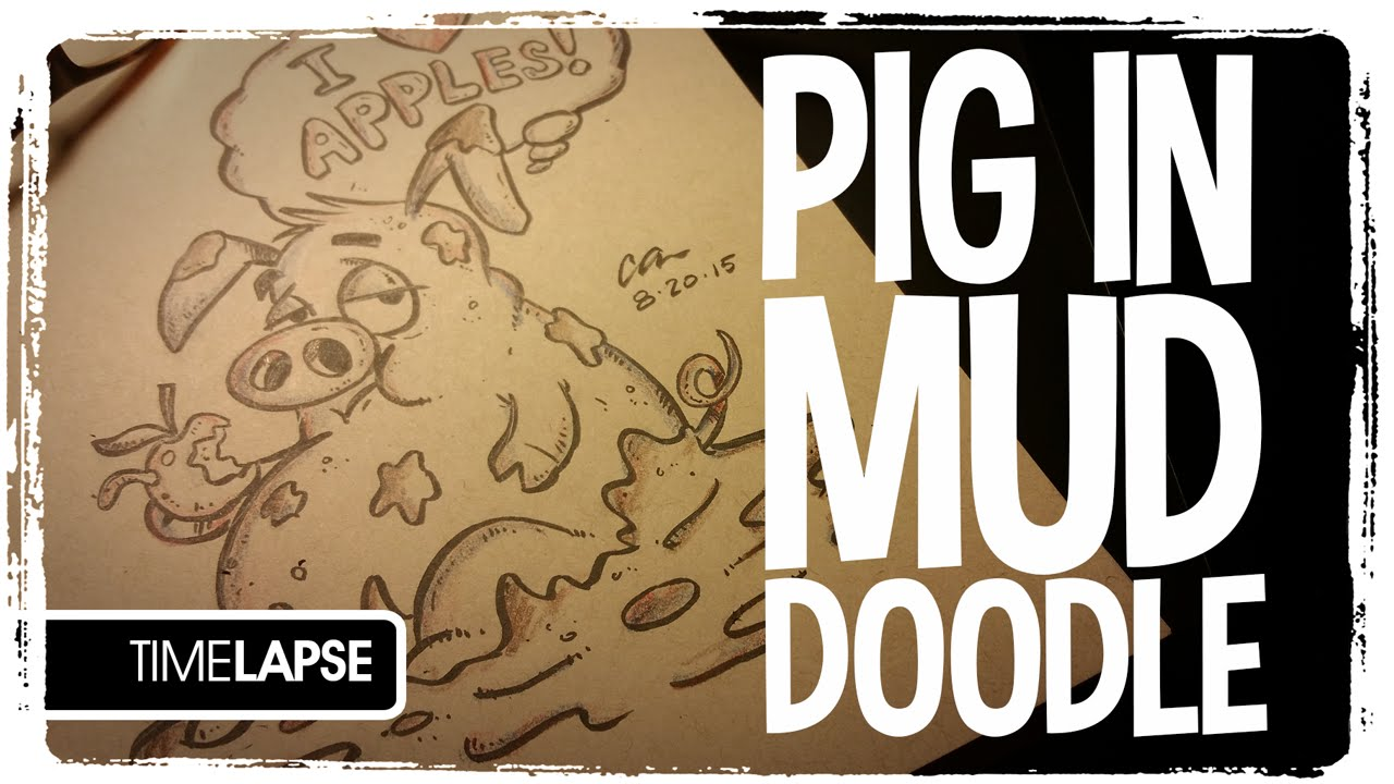 1280x720 Speed Drawing Pig In Mud