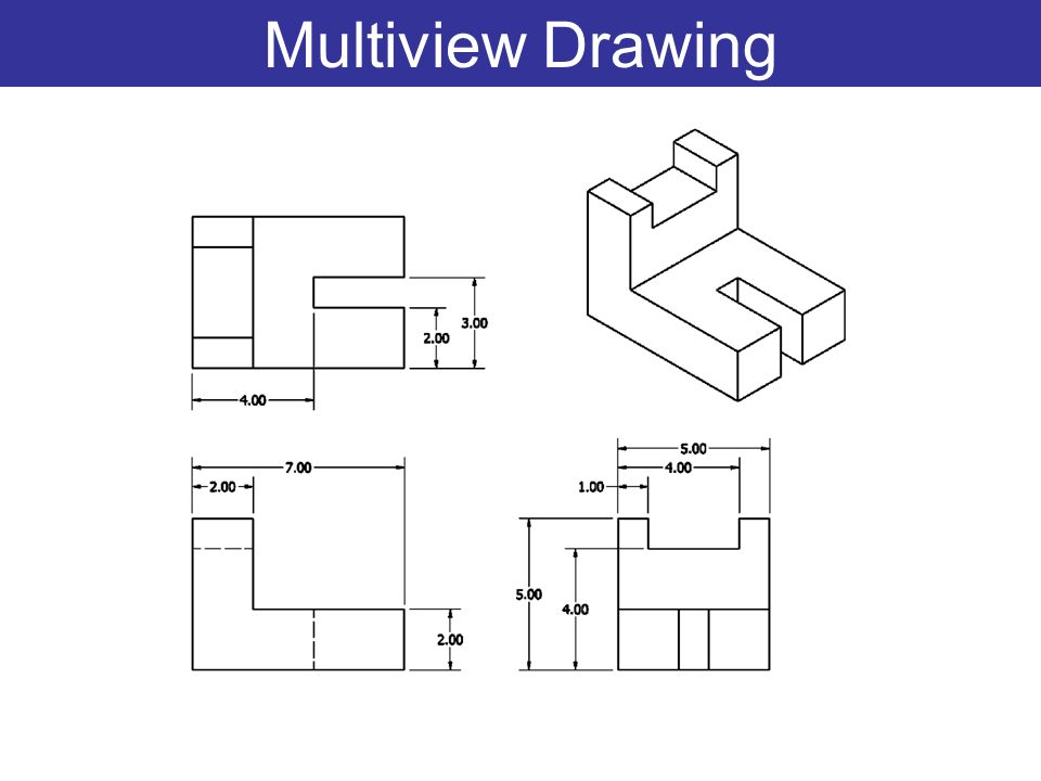 960x720 Collection Of Multiview Drawing Examples High Quality, Free