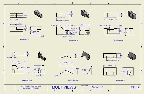 572x372 Multi Views In Cad (Unit 8)