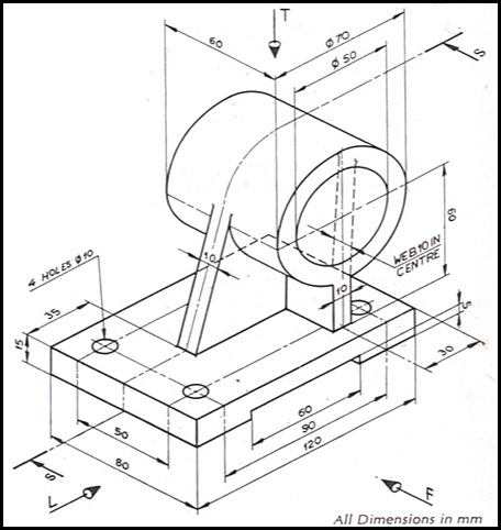 456x482 Collection Of Isometric Drawing Exercises Pdf High Quality