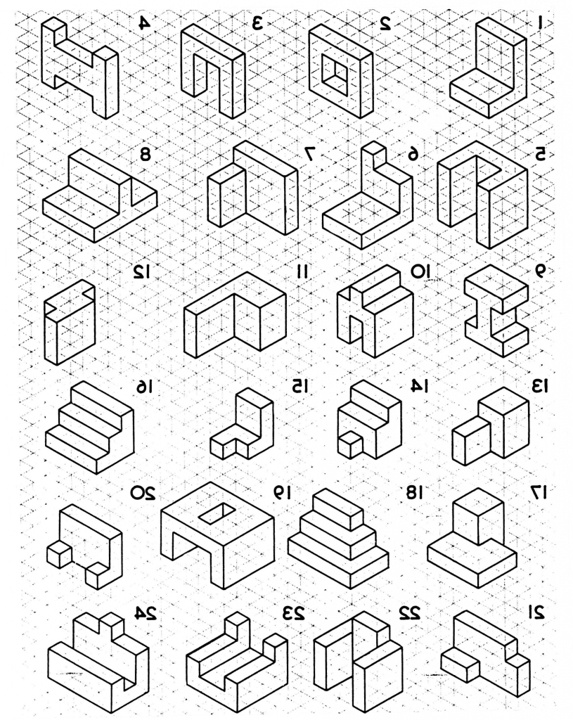815x1024 Collection Of Isometric Drawing Worksheet High Quality, Free