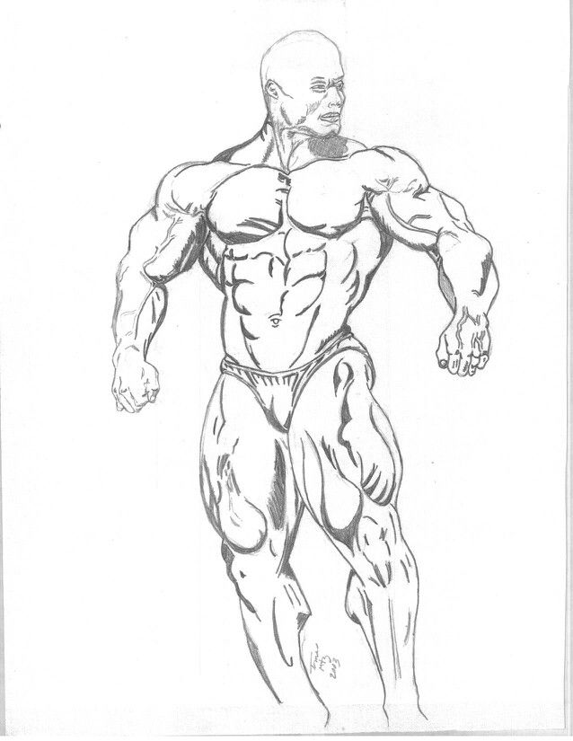 Muscle Guy Drawing