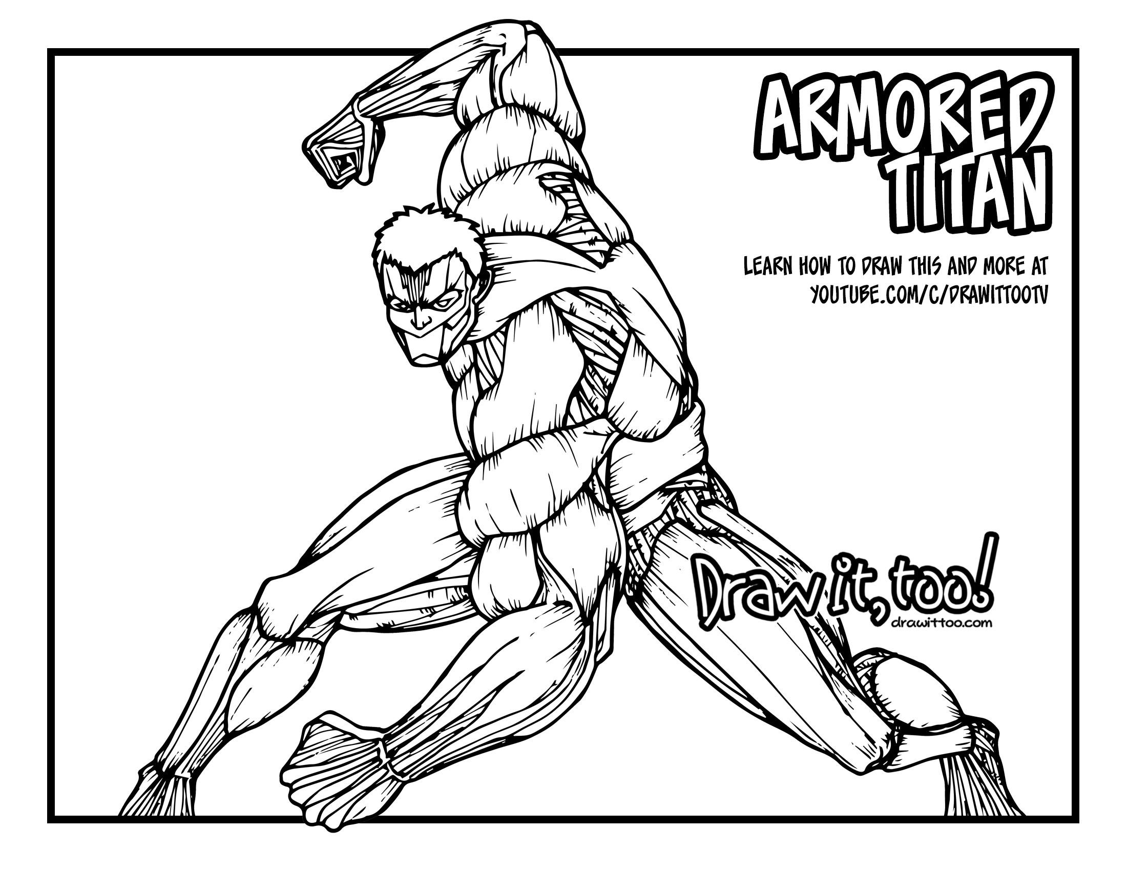 2200x1700 Armored Titan (Attack On Titan) Tutorial Draw It, Too!