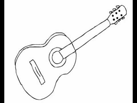 480x360 How To Draw Acoustic Guitar (Easy, For Beginners)
