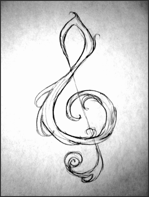 499x658 Collection Of Music Drawing Ideas Easy High Quality, Free