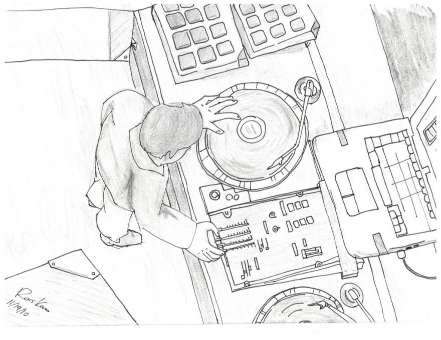 880x680 Music Turntables. Life People. Drawings. Pictures. Drawings Ideas