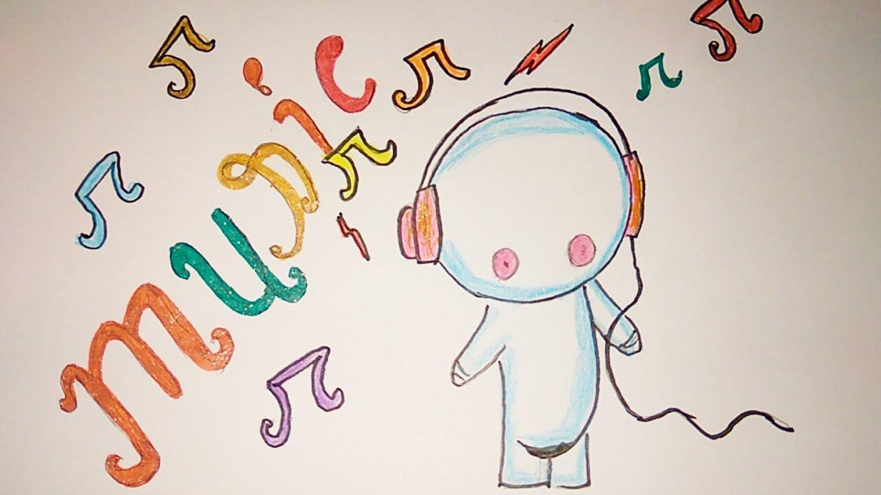 1280x720 Very Easy Cutie Pie Drawing, Cutie Pie Listening Music Poster