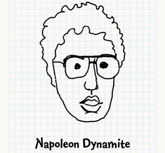 632x586 Napoleon Dynamite Badly Drawn Faces Answers, Walkthrough, Cheats
