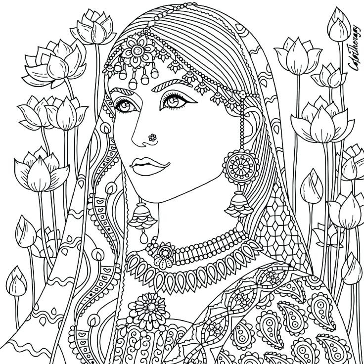 736x736 Indian Coloring Pages Print Out Unique Native American Woman