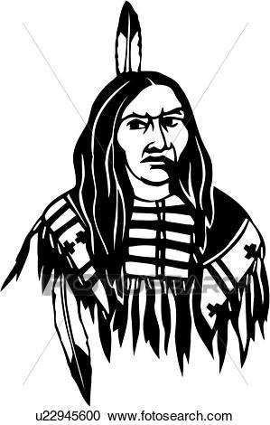 299x470 Native American Clipart Face 3736030