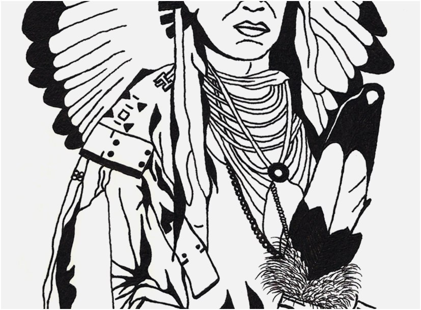 827x609 The Most Effective Pic Native American Coloring Pages Comfortable