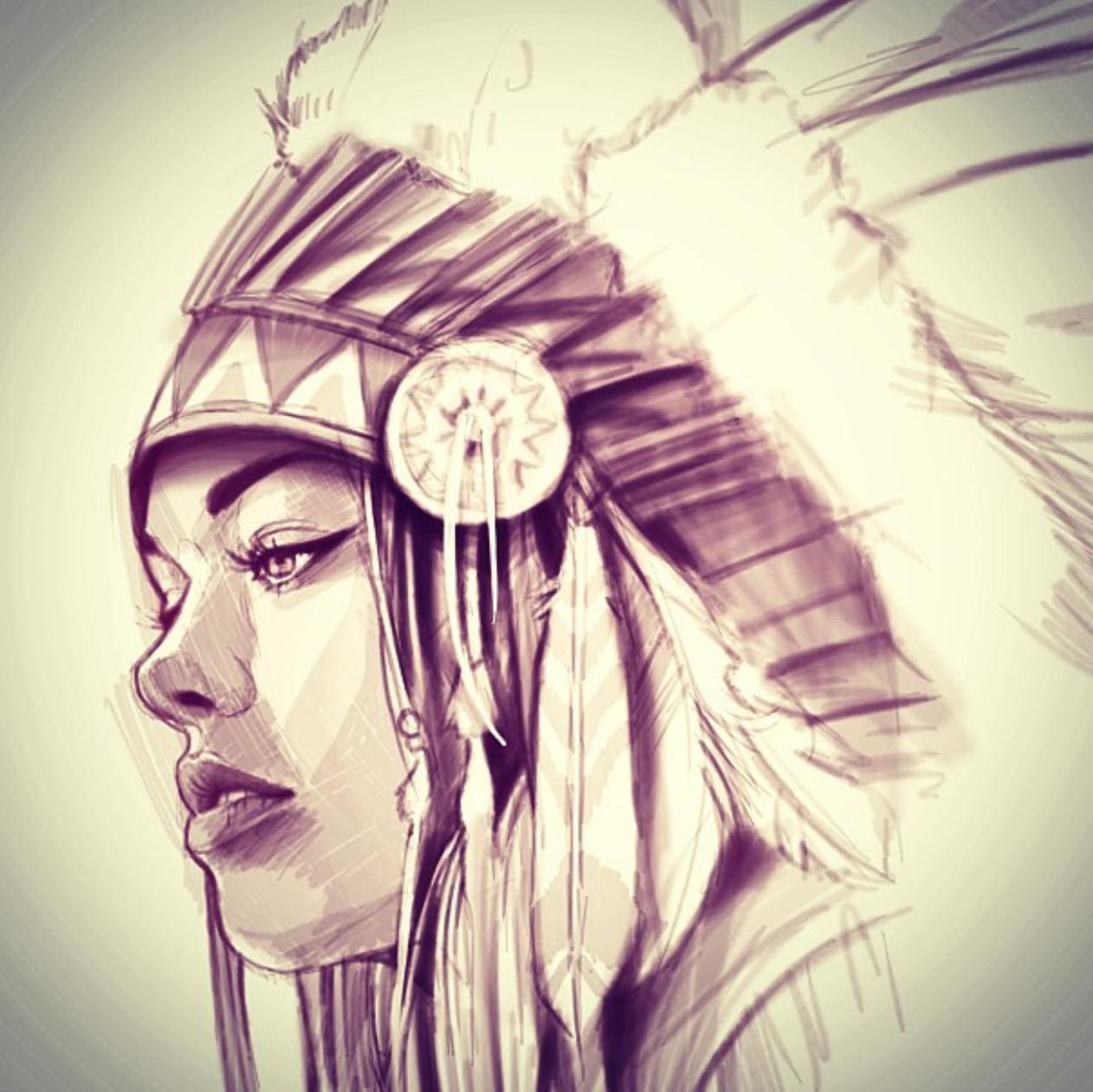 1262x1261 American Indian Girl Drawing Native Indian Woman Drawing Ltbgtnative