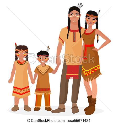 450x470 Native American Indian Traditional Family. American Indian