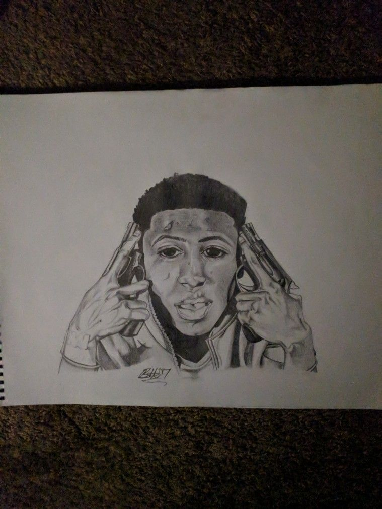 759x1012 Nba Youngboy Glo Up My Artwork Nba And Artwork